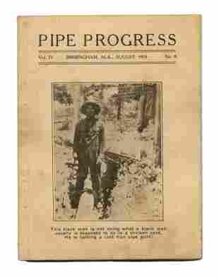 "1919 Racial ""Pipe Progress"" Cover, Trade Periodical"