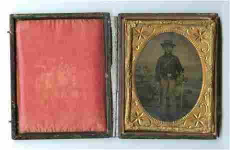 Superb Double-Armed Cavalryman (Ambrotype)