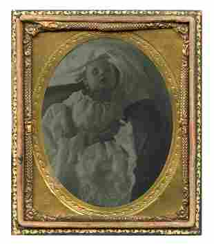 Heart-wrenching Post-Mortem Ambrotype