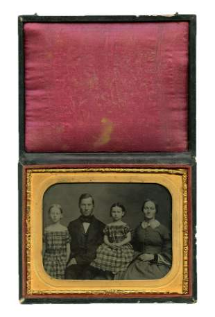 Half Plate Ambrotype of Family