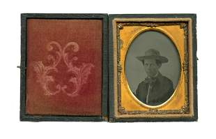 Ninth Plate Ambrotype- Man in Hat