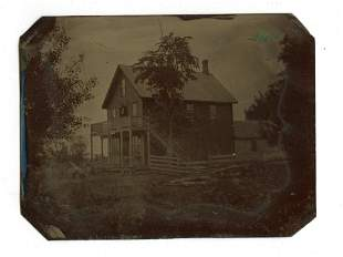 Quarter Plate Tintype of House