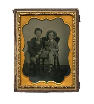 Charming Ambrotype of School Children from Texas