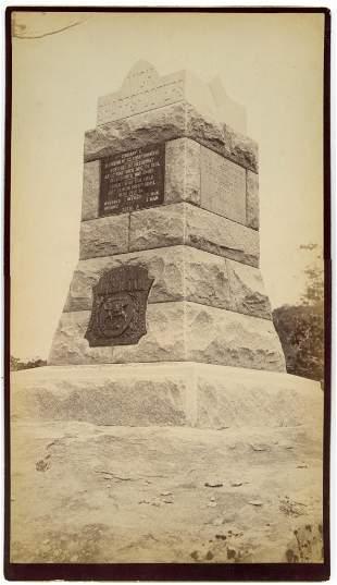 Gettysburg Monument Albumen – Berdan's