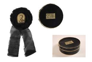 Rare Lincoln Mourning Badge w/ Original Box