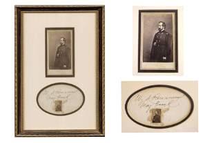 Signature w/ Framed CDV – Gen. Rosecrans