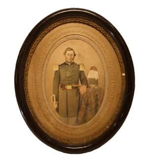 Civil War Portrait – Framed Artillery Officer