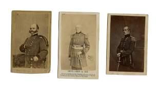 Civil War Generals CDV's – Lot of Three (2)