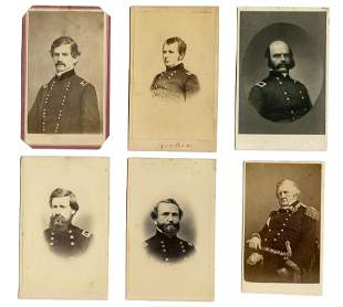 CDV Grouping (6): Civil War Generals