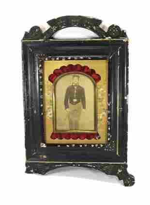 Civil War CDV- Folk Art Frame