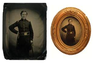 Civil War Ambrotype – Framed Junior Officer