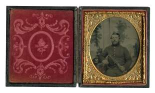Civil War Portrait- Holding American Flag