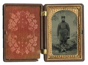 CDV-sized Tintype, Armed Union Soldier