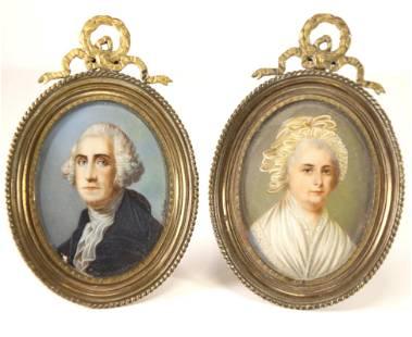 George & Martha Washington: Portrait Miniatures