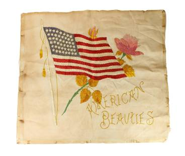 "Silk Embroidery ""American Beauties"""