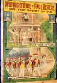 Rare Early 20th c. Moving Pictures Movie Poster