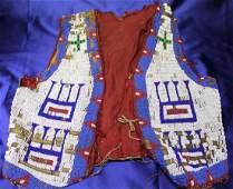 Mid to Late 19th c. Native American Beaded Vest - Souix