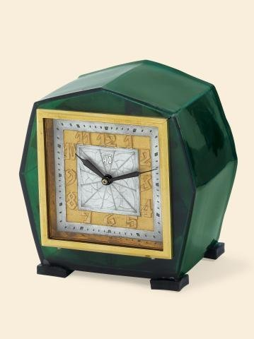 "7: ""Art Deco Green Heptagon"" Léon Hatot, (ATO), No."