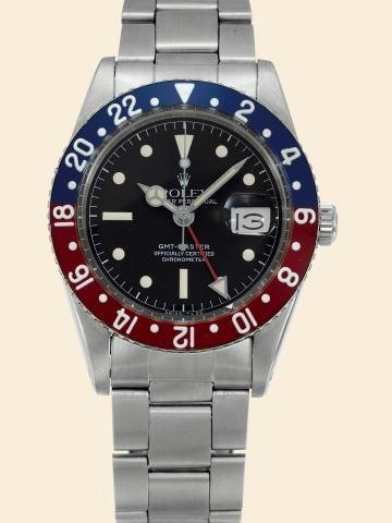 """170: Ref. 6542, Stainless Steel """"GMT-Master"""" Rolex, """"O"""