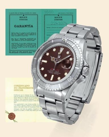 """177: Ref. 1680 """"Red Submariner, Color Change Dial"""" Rol"""