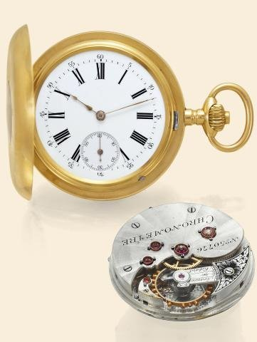 "178: Pivoted Detent Chronometer"""" Swiss, """"Chronometre"