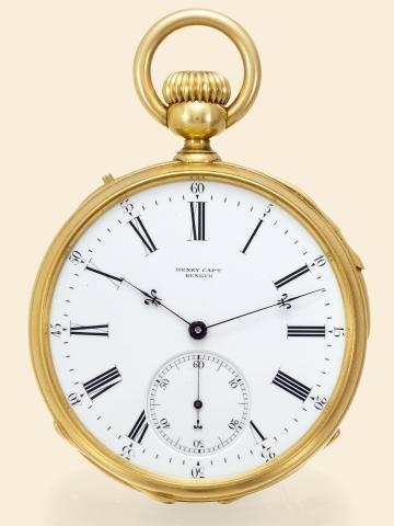 """179: Quarter Repeater, Demi Chronometer"""""""" Henry Capt,"""