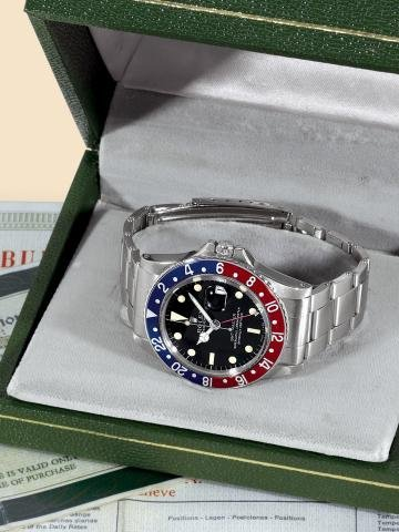 """182: Ref. 1675, Stainless Steel """"GMT Master"""" Rolex, """"O"""