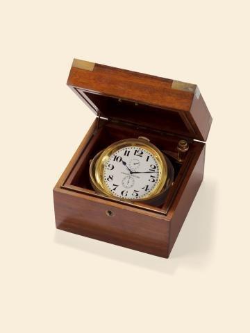 "186: ""8-Day Lever Deck Chronometer"" Longines ""Chronome"