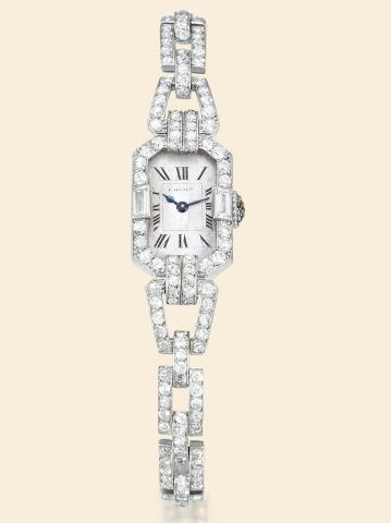 """234: Cartier, Paris, """"Bracelet montre Amande"""", No. 180"""