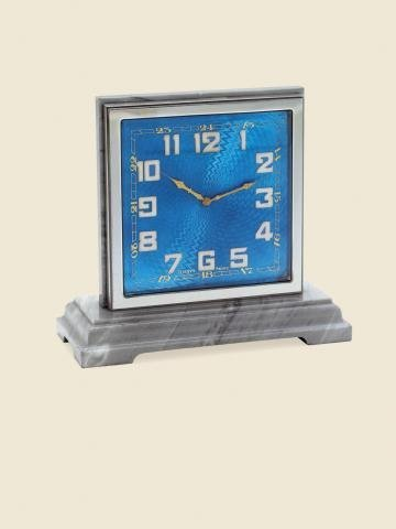 """316: """"Double Dialed Desk Clock"""" Swiss. Made circa 1930"""