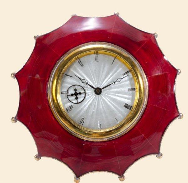 "334: Red Umbrella"""" Swiss. Made circa 1920. Fine, enam"