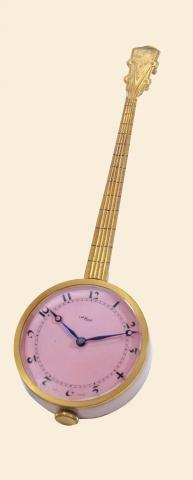 "335: Pink Banjo"""" ImHof, Swiss. Made circa 1940. Fine"