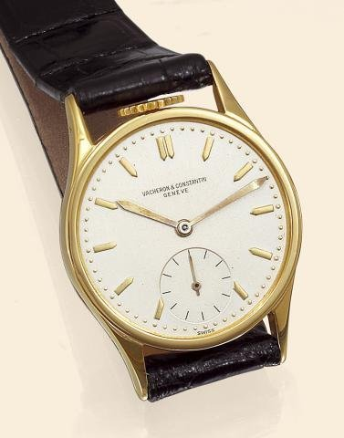 "430: ""Yellow Gold With Crown at 12"" Vacheron & Constan"