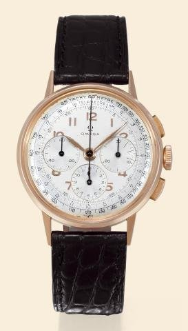 "441: Pink Gold, ""Chronograph with Tachometer and Telem"