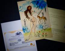 Salvador Dali - Watercolor - Hand signed + COA