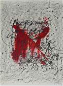 Antoni Tapies - Lithograph IV - Hand signed