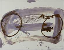 Antoni Tapies - Lithograph V - Hand signed