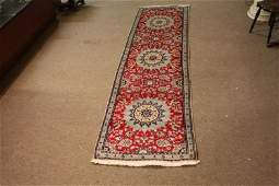 Persian Nain Wool and Silk Handwoven Runner (280cm x
