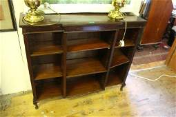 Edwardian Mahogany Floor Bookcase of Open Form with