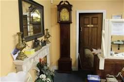 Late Georgian Mahogany Cased Brass Arch Dial Longcase