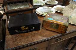 Two Jewellery Boxes  One Leather example by Weir of