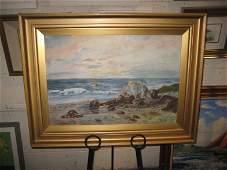 "M.E.S. Edgar ""Coastal Landscape"" OIL ON CANVAS (64cm x"