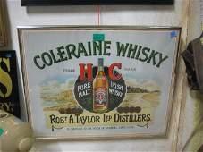 Robert A Taylor Distilleries Irish Whiskey Framed