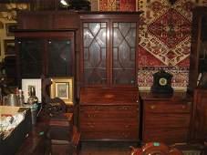 Edwardian Inlaid Mahogany Astragal Glazed Bureau