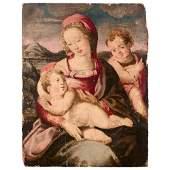 École FLORENTINE du XVIe siècle Vierge à l'Enfant avec
