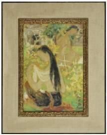 LÊ PHÔ (1907-2001) APRÈS LE BAIN Encre