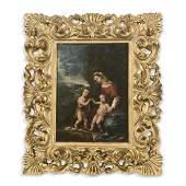 École ITALIENNE du XVIIe siècle La Vierge à l'Enfant