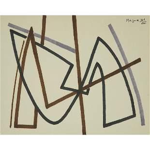 ALBERTO MAGNELLI (1888-1971) COMPOSITION, 1964 Feutre