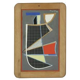 ALBERTO MAGNELLI (1888-1971) ARDOISE, 1940 Gouache sur