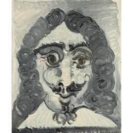 PABLO PICASSO (1881-1973) TÊTE D'HOMME OU TÊ